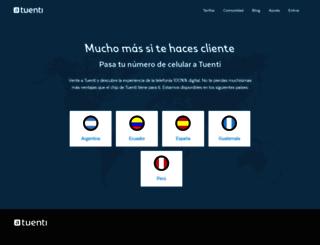 tuenti.com screenshot