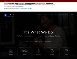 tuftshealthplan.com screenshot