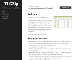 tugzip.com screenshot