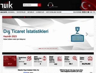 tuik.gov.tr screenshot