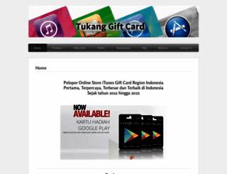 tukanggiftcard.com screenshot