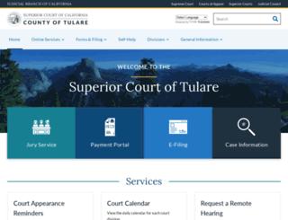 tularesuperiorcourt.ca.gov screenshot