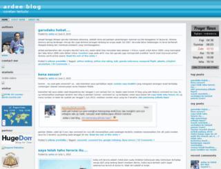 tulisanardi.wordpress.com screenshot