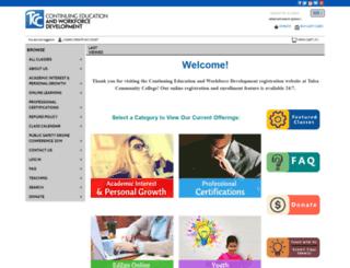 tulsacc.augusoft.net screenshot