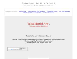 tulsamartialarts.com screenshot