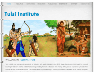 tulsiinstitute.com screenshot