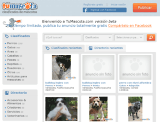 tumascota.com screenshot