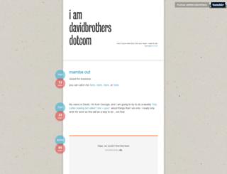 tumblr.iamdavidbrothers.com screenshot
