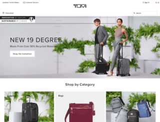 tumi.com screenshot