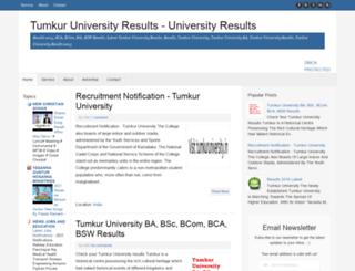 tumkuruniversityresults.blogspot.in screenshot
