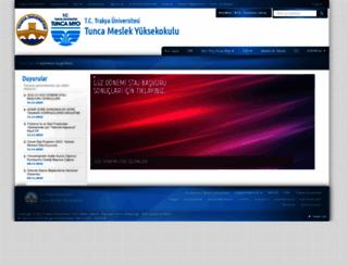 tuncamyo.trakya.edu.tr screenshot