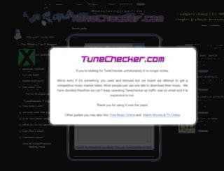 tunechecker.com screenshot