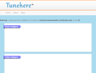 tunehere.in screenshot