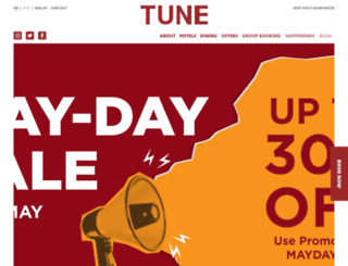 tunehotels.com screenshot