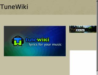 tunewiki.com screenshot