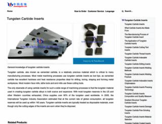 tungsten-carbide-inserts.com screenshot