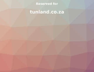tunland.co.za screenshot