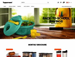 tupperware.ca screenshot