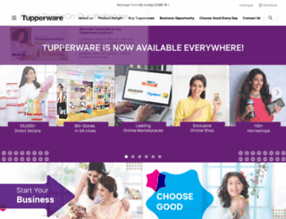 tupperware.co.in screenshot