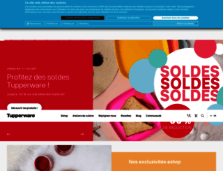 tupperware.fr screenshot