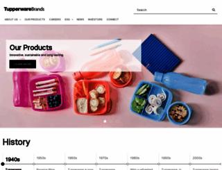 tupperwarebrands.com screenshot