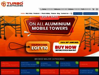 turboscaffolding.com.au screenshot