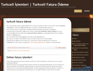 turkcelllfaturaodeme.wordpress.com screenshot