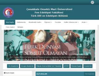 turkdiliveedebiyati.comu.edu.tr screenshot