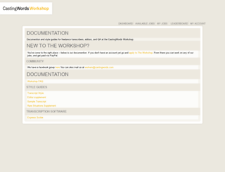 turkers.castingwords.com screenshot