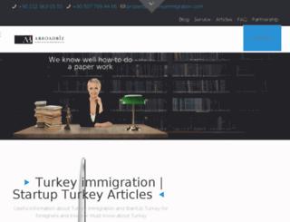 turkeyimmigration.com screenshot