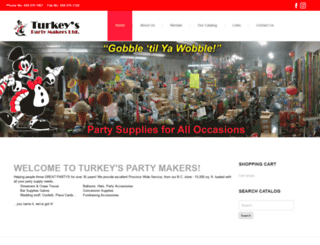 turkeyspartymakers.com screenshot