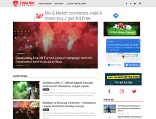 turkish-football.com screenshot