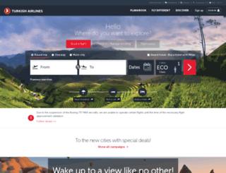 turkishairlines.com screenshot