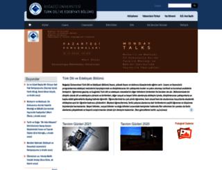 turkishliterature.boun.edu.tr screenshot
