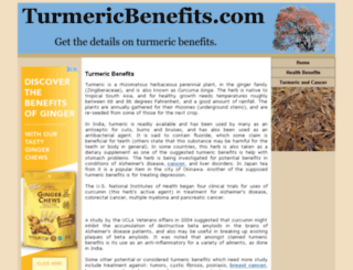 turmericbenefits.com screenshot