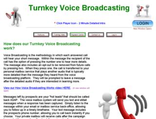 turnkeyvoicebroadcast.com screenshot