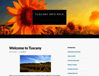 tuscanyinfopack.wordpress.com screenshot