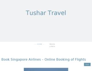 tushartravel.jimdo.com screenshot