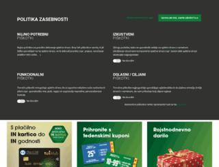 tusklub.si screenshot