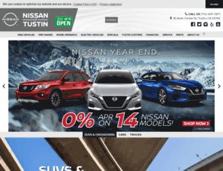 tustinnissan.com screenshot
