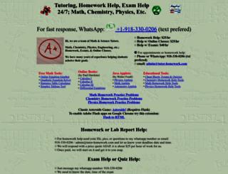 tutor-homework.com screenshot