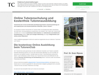 tutorenclub.de screenshot