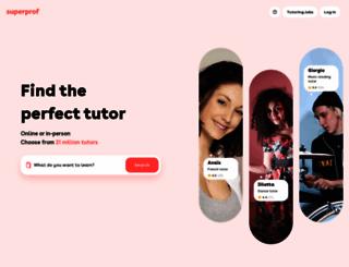 tutorhub.com screenshot