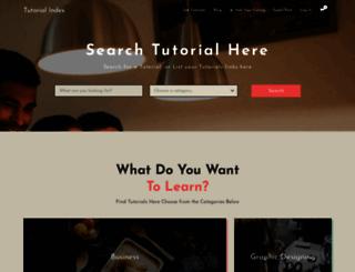 tutorial-index.com screenshot