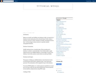 tutorial-mysql.blogspot.com screenshot