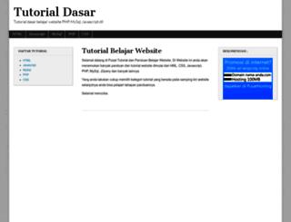 tutorial.belajarweb.net screenshot