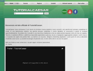 tutorialcaesar.altervista.org screenshot