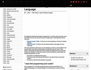 tutorialehtml.com screenshot