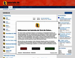 tutorials.de screenshot