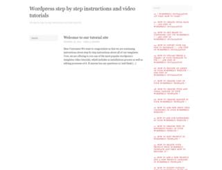 tutorials4.wordpress.com screenshot
